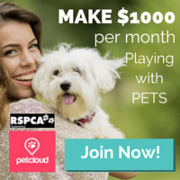 Make money playing with pets PetCloud