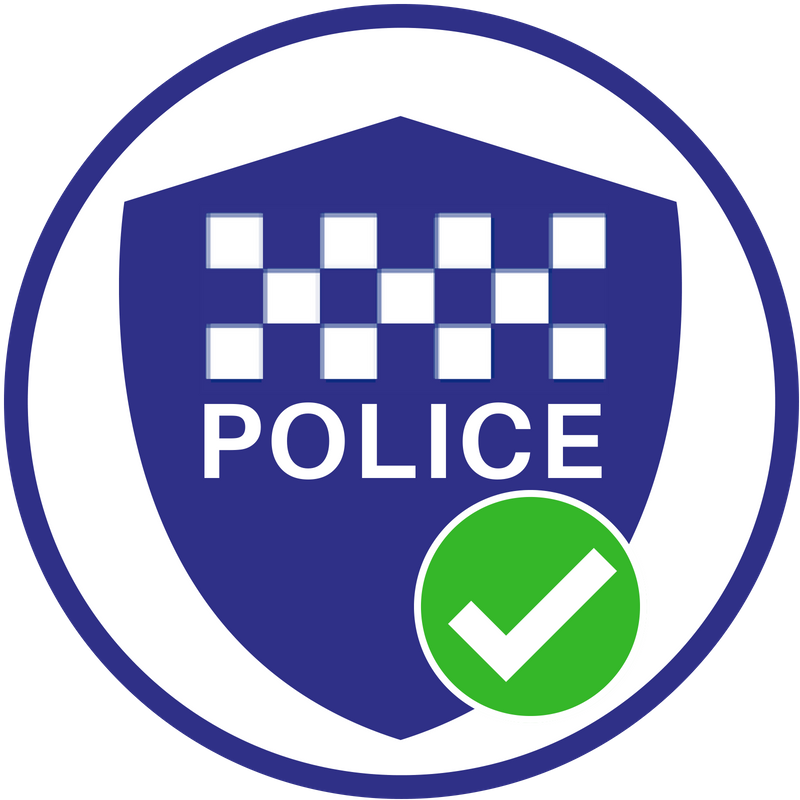 Police Checked badge
